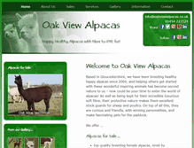 Tablet Preview of oakviewalpacas.co.uk